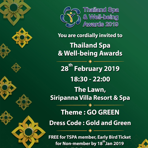 Thailand Spa & Well-being Awards 2019